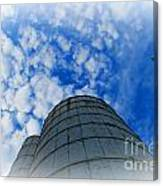 Silo Meets The Sky Canvas Print