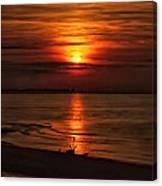 Silouhette In Sunset  Canvas Print