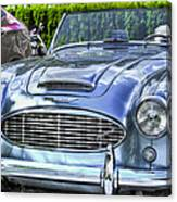 Silver 1963 Austin Healey Roadster 3000 Canvas Print