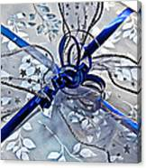 Silver And Blue Wrapped Gift Art Prints Canvas Print