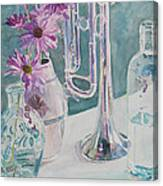 Silver And Glass Music Canvas Print