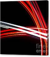 Silver And Red Canvas Print