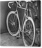 Silver Bike Bw Canvas Print