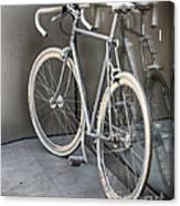 Silver Bike Canvas Print