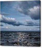 Silver Blue Moon Canvas Print