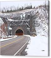 Silver Creek Cliff Tunnel Winter 1 Canvas Print