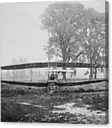 Silver Dart - Aeroplane At Hammondsport 1908 Canvas Print