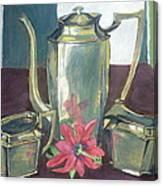 Silver Dish Canvas Print