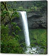 Silver Falls 1 In Oregon Canvas Print