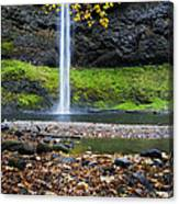 Silver Falls In Fall Canvas Print