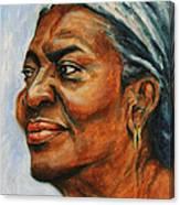 Silver Girl Canvas Print