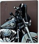 Silver Harley Motorcycle Canvas Print