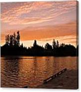 Silver Lake Sunset Canvas Print