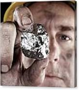 Silver Miner With Nugget Canvas Print