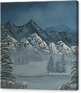 Silver Pine Valley Canvas Print