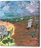 Silver Rose Canvas Print