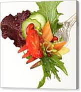 Silver Salad Fork Canvas Print