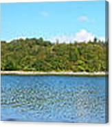 Silver Sands Of Morar Panorama Canvas Print