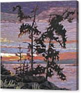 Silver Spray 3 Canvas Print