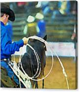 Silver Spurs Rodeo Outrider Canvas Print