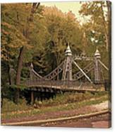 Silver Suspension Bridge Canvas Print