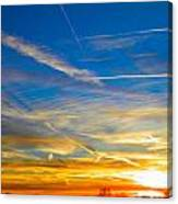 Silver Wing Sunset Canvas Print