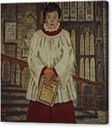 Simon - Winchester Cathedral Choral Scholar Canvas Print