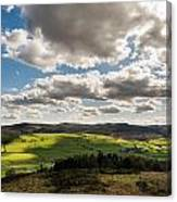 Simonside Hills From Rothbury Terraces Canvas Print