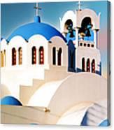Simple Graphic Greek Church Canvas Print