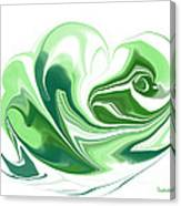 Simplicity In Green Canvas Print