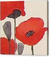 Simply Poppies 1 Canvas Print
