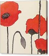 Simply Poppies 2. Canvas Print