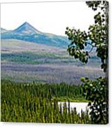 Simpson Peak At Swan Lake-yt Canvas Print