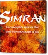 Simran Canvas Print