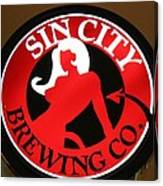 Sin City Brewing  Canvas Print