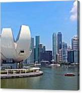 Singapore Artscience Museum And City Skyline Canvas Print