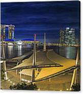Singapore Central Business District Skyline At Dusk Canvas Print