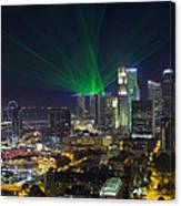Singapore Central Business District Skyline Canvas Print