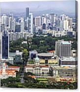 Singapore City Aerial View Canvas Print
