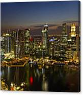 Singapore City Skyline At Dusk Canvas Print