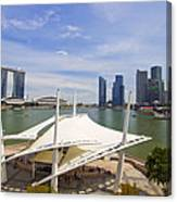 Singapore City Skyline From The Esplanade Canvas Print