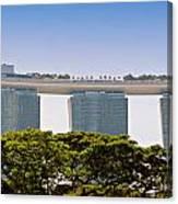 Singapore Marina Bay Sands And Skypark Canvas Print