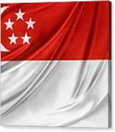 Singaporean Flag Canvas Print