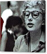 Singer Pianist Blossom Dearie  No Known Date Canvas Print