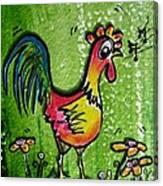 Singing Chicken  Canvas Print