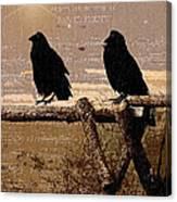 Singing Crows Canvas Print