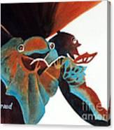 Singing Frog Duet 2 Canvas Print