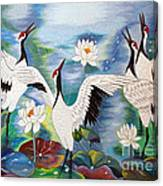 Singing In The Rain Hand Embroidery Canvas Print