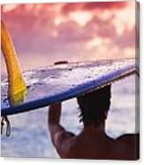 Single Fin Surfer Canvas Print