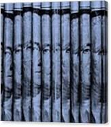 Singles In Cyan  Canvas Print